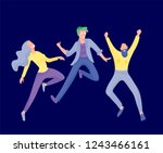 jumping character in various... | Shutterstock .eps vector #1243466161