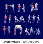 businessmen making handshake ... | Shutterstock .eps vector #1243467397