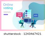 voting and election concept.... | Shutterstock .eps vector #1243467421