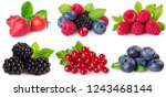collection of berries isolated... | Shutterstock . vector #1243468144