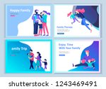 set of landing page templates... | Shutterstock .eps vector #1243469491