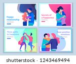 set of landing page templates... | Shutterstock .eps vector #1243469494