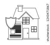 houses residence buildings...   Shutterstock .eps vector #1243471867