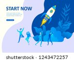 set landing page template... | Shutterstock .eps vector #1243472257