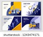 set landing page template... | Shutterstock .eps vector #1243474171