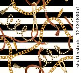 seamless pattern with chain for ... | Shutterstock .eps vector #1243483051