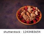 gingerbread cookies for...   Shutterstock . vector #1243483654