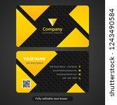 modern business card for...   Shutterstock .eps vector #1243490584