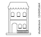 residence building isolated...   Shutterstock .eps vector #1243491664
