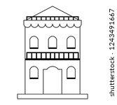 residence building isolated...   Shutterstock .eps vector #1243491667