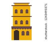 residence building isolated...   Shutterstock .eps vector #1243493371