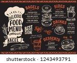 bagel menu template for... | Shutterstock .eps vector #1243493791
