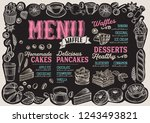 waffle and pancake menu... | Shutterstock .eps vector #1243493821