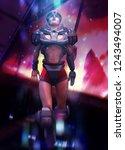 3d illustration of a sci fi... | Shutterstock . vector #1243494007