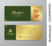 thai food and thai restaurant... | Shutterstock .eps vector #1243494454
