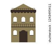 residence building isolated     Shutterstock .eps vector #1243495411