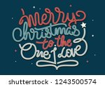 merry christmas hand lettering... | Shutterstock .eps vector #1243500574