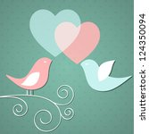 valentine's background with... | Shutterstock .eps vector #124350094