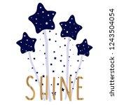 star glitter shine gold tee...   Shutterstock .eps vector #1243504054