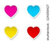 Set Of Valentine's Day  Heart...