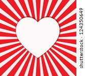 valentine's day background with ... | Shutterstock .eps vector #124350649