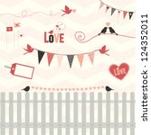 lovebird design elements  a... | Shutterstock .eps vector #124352011