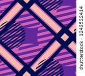 seamless pop art background.... | Shutterstock .eps vector #1243522414
