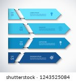 infographic arrow template with ... | Shutterstock .eps vector #1243525084
