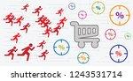 vector illustration of running... | Shutterstock .eps vector #1243531714