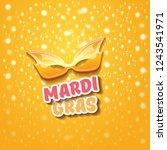 vector new orleans mardi gras... | Shutterstock .eps vector #1243541971