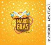 vector new orleans mardi gras... | Shutterstock .eps vector #1243541977