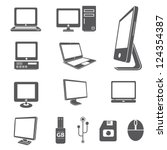 computer icon set | Shutterstock .eps vector #124354387