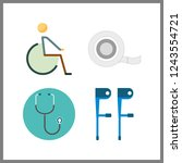 4 therapy icon. vector...   Shutterstock .eps vector #1243554721