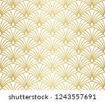 Stock vector seamless art deco pattern vintage minimalistic background abstract luxury illustration 1243557691