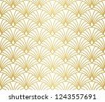 Stock vector seamless art deco pattern vintage minimalistic background abstract luxury illustration 1243557691