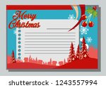 christmas greeting card with... | Shutterstock .eps vector #1243557994