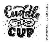 hot cocoa hand lettering... | Shutterstock .eps vector #1243562317