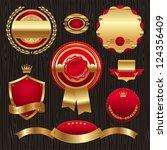 set of golden quality labels... | Shutterstock . vector #124356409