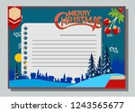 christmas greeting card with... | Shutterstock .eps vector #1243565677