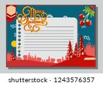 christmas greeting card with... | Shutterstock .eps vector #1243576357