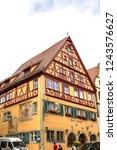 rothenburg ob der tauber ... | Shutterstock . vector #1243576627