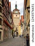 rothenburg ob der tauber ... | Shutterstock . vector #1243576651