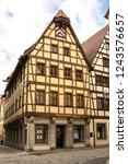 rothenburg ob der tauber ... | Shutterstock . vector #1243576657