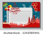 christmas greeting card with... | Shutterstock .eps vector #1243585441