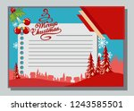 christmas greeting card with... | Shutterstock .eps vector #1243585501
