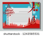 christmas greeting card with...   Shutterstock .eps vector #1243585531