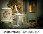 festive home interior wirh... | Shutterstock . vector #1243588414