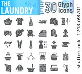 laundry glyph icon set  clean... | Shutterstock .eps vector #1243598701