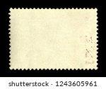 vintage postage stamp on a... | Shutterstock . vector #1243605961
