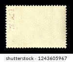 vintage postage stamp on a... | Shutterstock . vector #1243605967